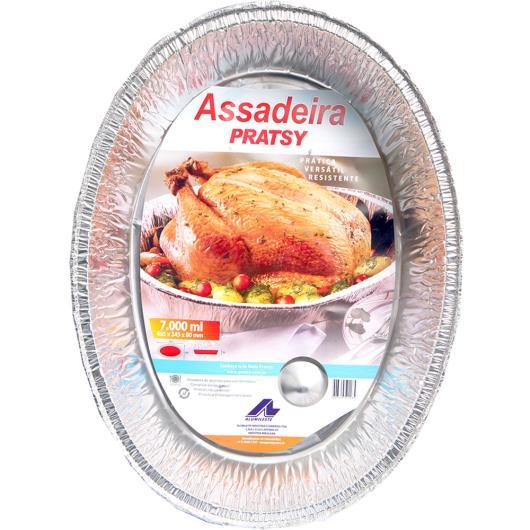 Assadeira Pratsy Oval de alumínio 7L - Imagem em destaque