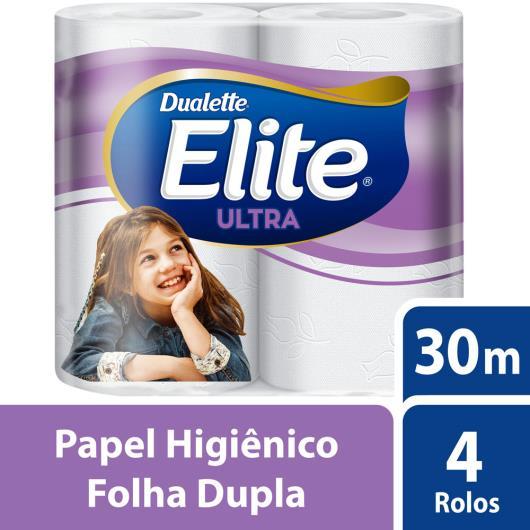 Papel higienico Ultra Folha Dupla Elite Dualette  30 metros 4 unidades - Imagem em destaque