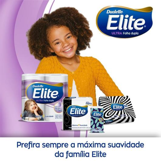Papel higiênico Elite Dualette Ultra Folha Dupla  30 metros - Leve 12 Pague 11 - Imagem em destaque