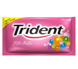 Goma de mascar sabor tutti frutti com 5 unidades Trident 8g