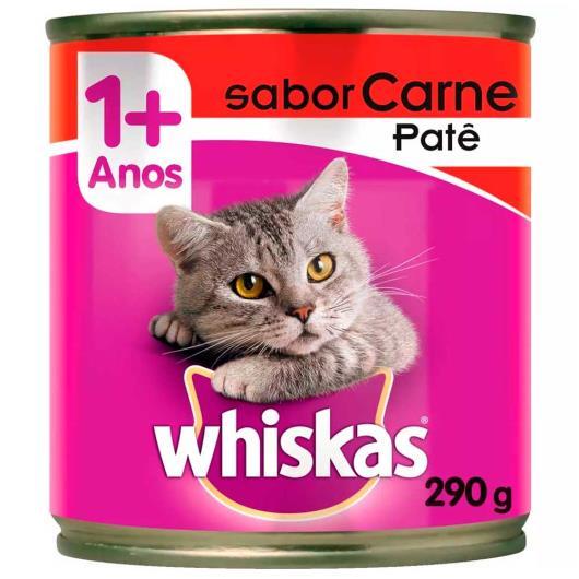 Alimento para gatos sabor patê de carne Whiskas lata 290g - Imagem em destaque