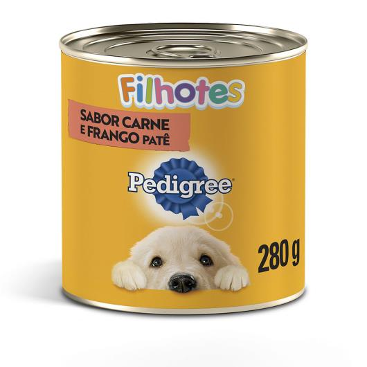 Patê para Cães Filhotes Carne e Frango Pedigree Lata 280g - Imagem em destaque