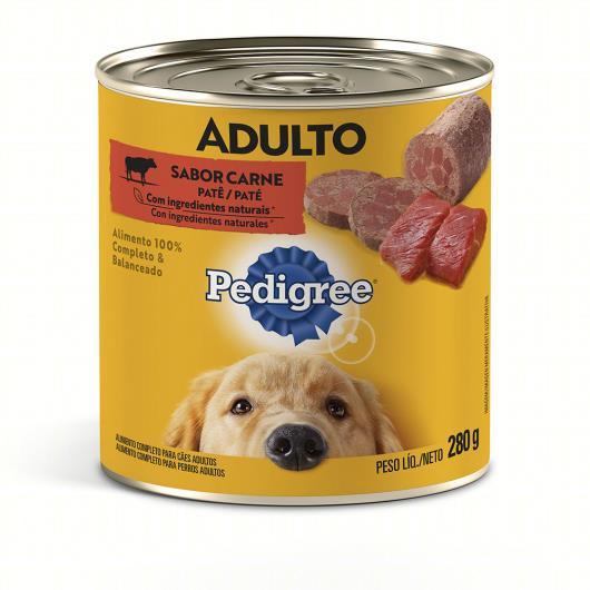 Patê para Cães Adultos Carne Pedigree Lata 280g - Imagem em destaque