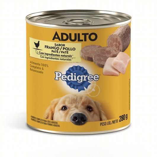 Patê para Cães Adultos Frango Pedigree Lata 280g - Imagem em destaque