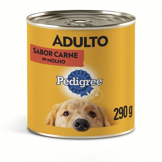 Alimento para Cães Adultos Carne ao Molho Pedigree Lata 290g - Imagem em destaque