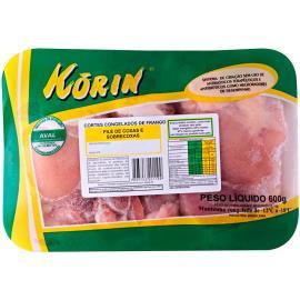 Filé de coxa e sobrecoxa congelada sem pele Korin 600 g
