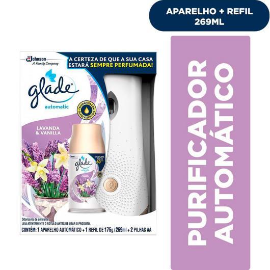 Aparelho odorizador automático + refil Glade 175g + 2 pilhas AA - Imagem em destaque