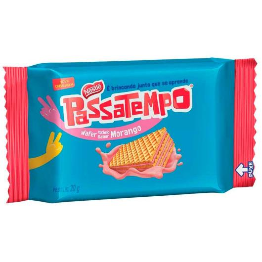 Biscoito PASSATEMPO Mini Wafer Morango 20g - Imagem em destaque
