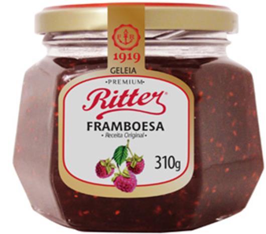 Geleia Ritter sabor framboesa premium  310g - Imagem em destaque