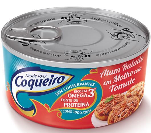 Atum Ralado ao Molho de Tomate Coqueiro 160g - Imagem em destaque