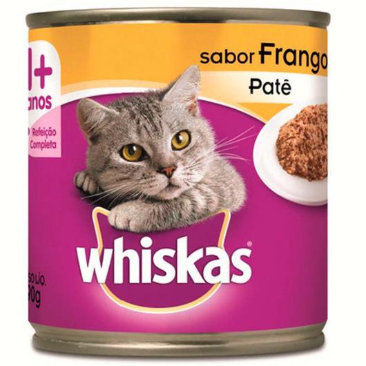 Alimento para gatos Whiskas sabor patê de frango lata 290g - Imagem em destaque