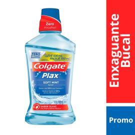 Enxaguante Bucal Colgate Plax Soft Mint 500ml Pague 350ml