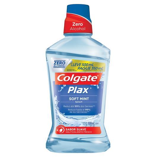 Enxaguante Bucal Colgate Plax Soft Mint 500ml Pague 350ml - Imagem em destaque
