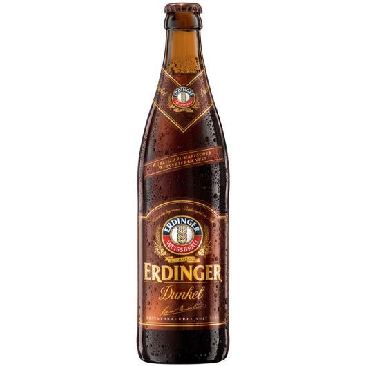 Cerveja Alemã Erdinger Weissbier dunkel long neck 500ml - Imagem em destaque