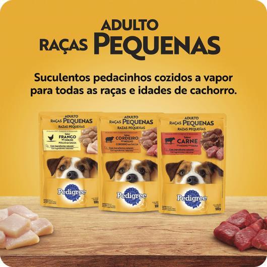 Alimento para Cães Adultos Raças Pequenas Carne ao Molho Pedigree Sachê 100g - Imagem em destaque