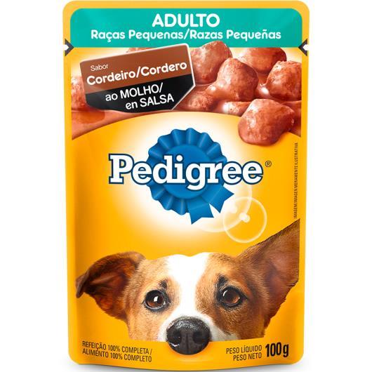 Alimento para cães Pedigree adultos cordeiro ao molho sachê 100g - Imagem em destaque