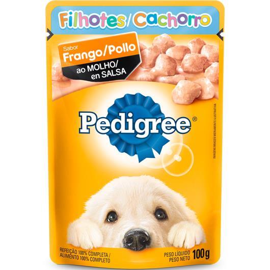 Alimento para cães Pedigree Filhote frango ao molho sachê 100g - Imagem em destaque