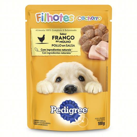 Alimento para Cães Filhotes Frango ao Molho Pedigree Sachê 100g - Imagem em destaque