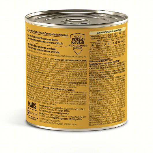 Alimento para Cães Adultos Frango ao Molho Pedigree Lata 290g - Imagem em destaque