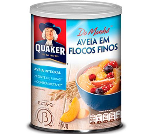 Aveia Quaker em flocos finos lata 450g - Imagem em destaque