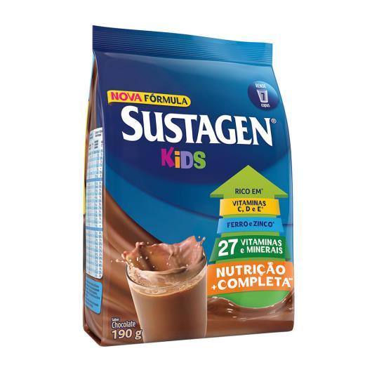 Pó Para Preparo De Bebida Sustagen Kids Chocolate Sachê 190g - Imagem em destaque