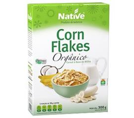 Cereal matinal Native orgânico corn flakes 300g