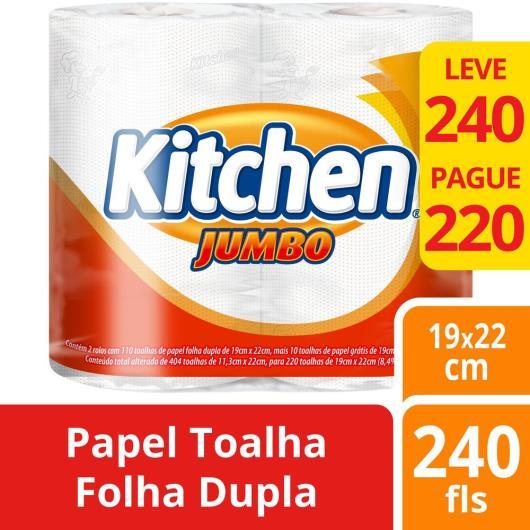 PAPEL TOALHA KITCHEN JUMBO LEVE 240 PAGUE 220 FOLHAS - Imagem em destaque