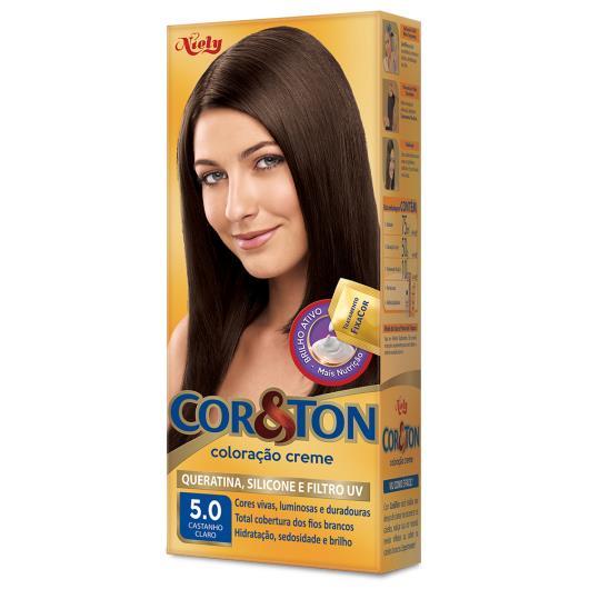 Coloração Creme Cor&Ton 5.0 Castanho Claro - Imagem em destaque