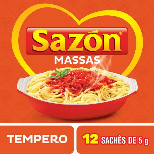 Tempero para Massas Sazón Pacote 60g 12 Unidades - Imagem em destaque