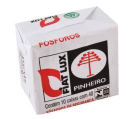 Fósforo FiatLux pinheiro com 10 unidades
