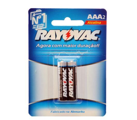 Pilha Rayovac Alcalina palito AAA com 2 unidades  - Imagem em destaque