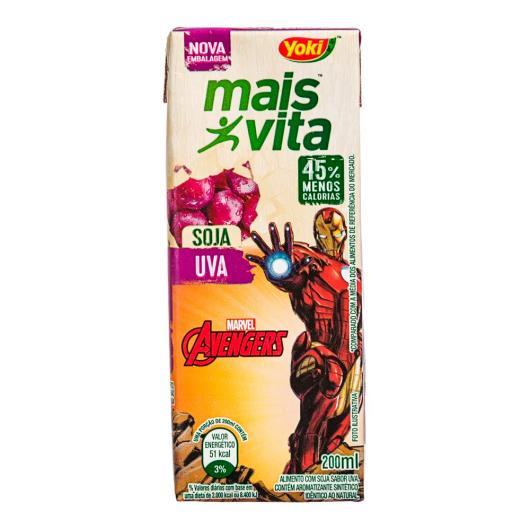 Bebida de Soja Yoki Mais Vita Uva Avengers 200ml - Imagem em destaque