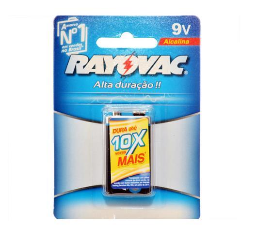 Bateria Rayovac Alcalina 9 v - Imagem em destaque