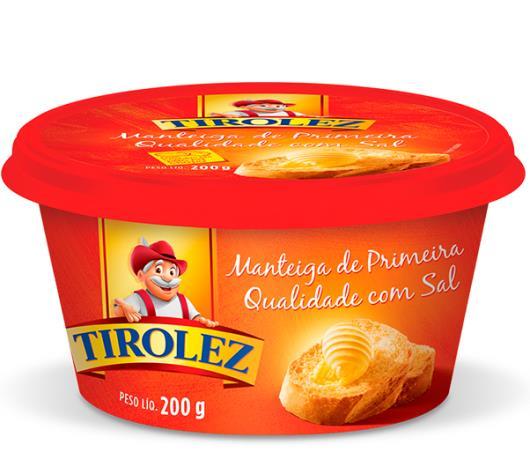 Manteiga Tirolez com sal 200g - Imagem em destaque