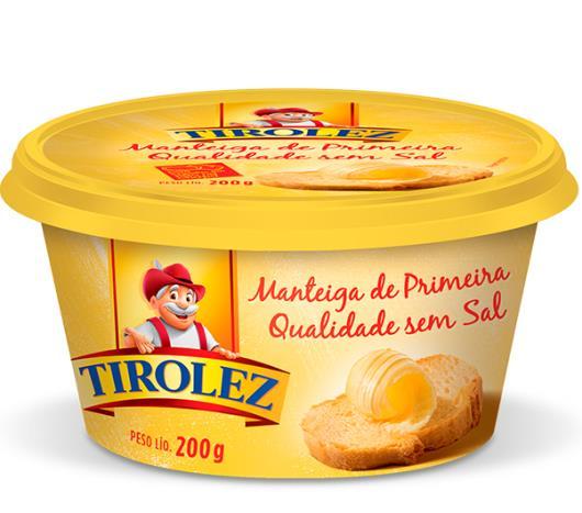 Manteiga Tirolez sem sal 200g - Imagem em destaque