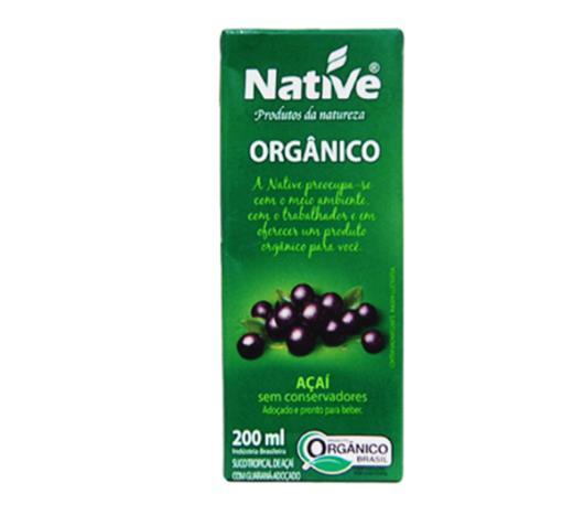 Suco orgânico Native sabor açaí com guaraná 200ml - Imagem em destaque