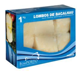 Bacalhau Congelado Bom Porto Lombo Macro Dessalgado 1kg