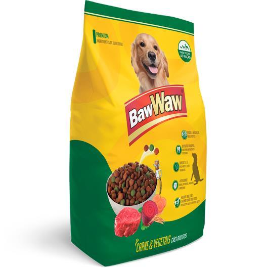 Alimento para cães Baw Waw adulto sabor carne com vegetais 1kg - Imagem em destaque