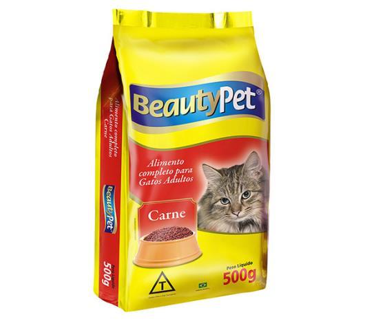 Alimento para gatos pet adulto sabor carne Beauty Pet 500g - Imagem em destaque