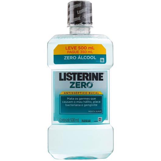 Antisséptico Bucal Listerine Menta Suave Zero Leve 500ml Pague 350ml - Imagem em destaque