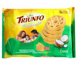 Biscoito amanteigado sabor coco - Triunfo 330g