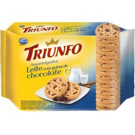 Biscoito amanteigado de leite com gotas de chocolate Triunfo 330g