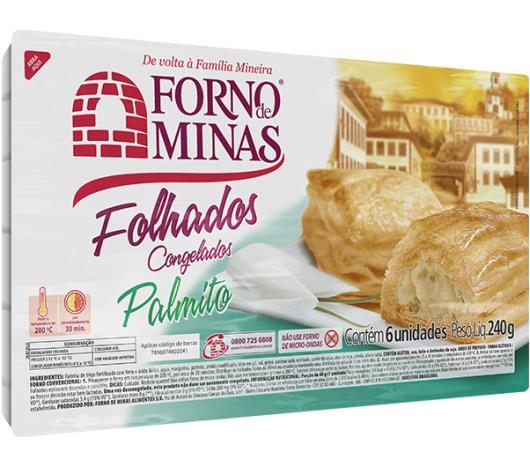 Folhado de palmito Forno Minas 240g - Imagem em destaque