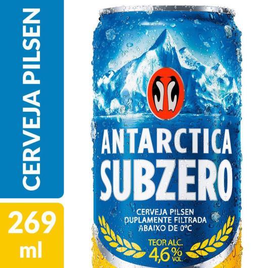Cerveja Antarctica Sub Zero Pilsen 269ml Lata - Imagem em destaque