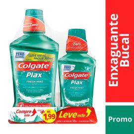 Enxaguante bucal Colgate Plax Leve 500ml pague 350ml +  Enxaguante bucal Colgate Plax 250ml