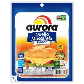 Queijo mussarela fatiado Aurora 150g