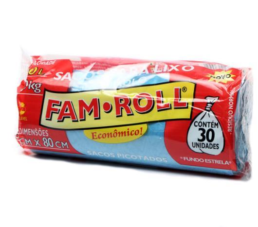Saco Lixo Farm Roll Azul 50L - Imagem em destaque