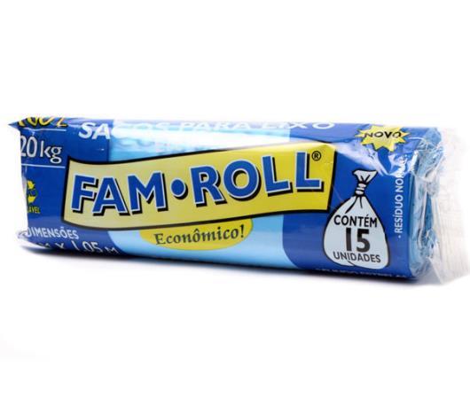 Saco Lixo Farm Roll Azul 100L - Imagem em destaque
