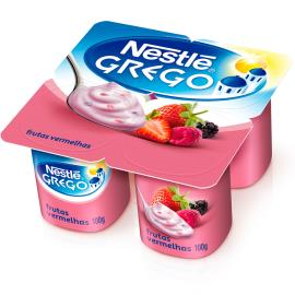 Iogurte Nestlé Grego com Frutas Vermelhas Pote 400g