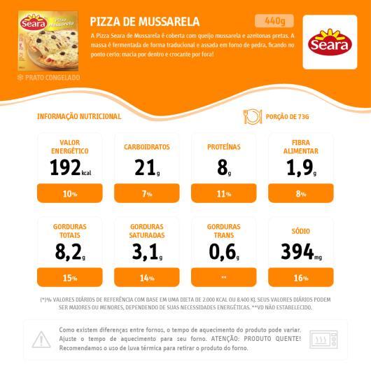 Pizza Seara mussarela 440g - Imagem em destaque